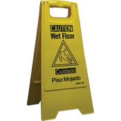 """WET FLOOR"" Sign, Bilingual"