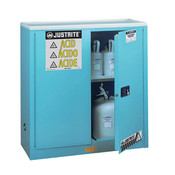 Sure-Grip EX 30 Gal Blue Steel Safety Cabinets for Corrosives, Manual Doors