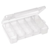 "Plastic Storage Case, 15 Compartments, 8 5/8""L x 1 5/8""H x 5 1/8""W"