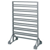 "Rail Hanging System Rack, 2-Sided, 36""L x 53""H x 20""W"
