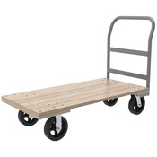 "Series 5 Wood Platform Truck, 30"" x 60"" Deck w/ 8"" Mold-On Rubber Casters, 1500 lb"