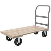 "Series 5 Wood Platform Truck, 30"" x 60"" Deck w/ 6"" Polyurethane Casters, 2600 lb"