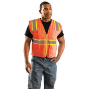 Class 2 Classic Surveyor's Two-Tone Mesh Vest, Large