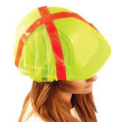 High-Vis Regular-Brim Hard Hat Cover, Yellow
