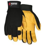 Memphis Fasguard Multi-Purpose, Deerskin Leather Palm Gloves, Large (1 Pair)