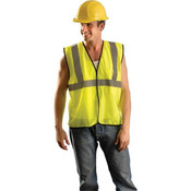Class 2 Solid Mesh Standard Vest, 4X-Large/5X-Large, Yellow