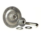 "Reusable Adapter for 7"" & 9"" T27 or T28 Depressed Center Grinding Wheels, Mercer Abrasives 692FLAN50, Qty. 5"