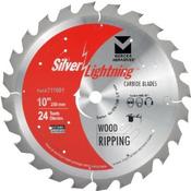 "10"" x 5/8"" Table Saw Heavy-Duty Combination Finish Carbide Blades, Mercer Abrasives 711004 (1/Pkg.)"