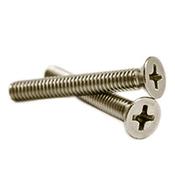 """#10-24 x 1"""" Phillips Flat Head Machine Screws, 316 Stainless Steel (500/Pkg.)"""