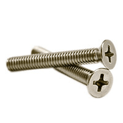 "#10-24 x 1 1/4"" Phillips Flat Head Machine Screws, 316 Stainless Steel (2000/Bulk Pkg.)"