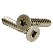 "#10 x 1 1/2"" Square Drive Flat Head Self-Tapping Screws Type A, 18-8 Stainless Steel (500/Pkg.)"