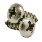 "#10 x 1 3/4"" Phillips Pan Head Self Tapping Screws Type A, 316 Stainless Steel (500/Pkg.)"