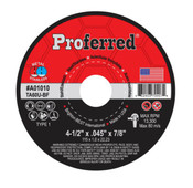 "14"" x 3/32"" x 1"" Type 1 Abrasive Chop Saw Wheel, TA36T, Proferred #A01032 (10/Pkg.)"
