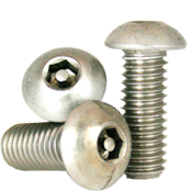 "#10-32 x 3/4"",(FT) Button Head Socket Cap Tamper Resistant Screw with Pin, 18-8 Stainless Steel (100/Pkg.)"