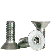 "#10-24x3/4"",(FT) Flat Head Socket Cap Security Screw with Pin, 18-8 Stainless Steel (100/Pkg.)"