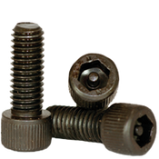 "#10-24x3/8"",(FT) Socket Cap Screws w/Pin Tamper Resistant Security Screws, Thermal Black Oxide (100/Pkg.)"