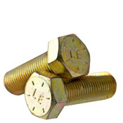 "1 1/4""-7x3 1/4"" Hex Cap Screws Grade 8 Coarse Zinc-Yellow Bake Cr+3 (20/Bulk Pkg.)"