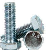 M10-1.25x130 MM,(PT) DIN 960 Hex Cap Screws 8.8 Fine Med. Carbon Zinc Cr+3 (50/Pkg.)