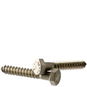 "1/2""-6x10"" Hex Lag Screws Coarse 18-8 Stainless Steel (50/Bulk Pkg.)"