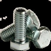 "1""-8x10"",6"" Thread Hex Bolts A307 Grade A Coarse Zinc CR+3 (5/Pkg.)"