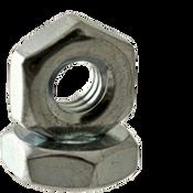 """#10-32 x 11/32"""" x 1/8"""" (Small Pattern) Hex Machine Screw Nut, Low Carbon Steel, Plain (100/Pkg.)"""