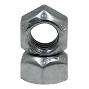 """3/8""""-16 GR.C ALL METAL HEX LOCKNUTS ZINC & WAX CR+3 (100/Pkg.)"""
