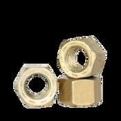 """1/4""""-28 PFC9, HEX ALL METAL LOCKNUTS, CAD YELLOW / WAX (USA) (7500/Bulk Pkg.)"""