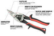 Left Cut Proferred Aviation Snips, Tpr Grip