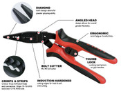 """8"""" (7 In 1 Angle Nose) Proferred All Purpose 7 In 1 Angle Nose Pliers"""