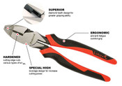 "8 1/2"" Tpr Grip Proferred High Leverage Heavy Duty Lineman's Pliers"