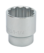 "1 1/4"" Standard 12 Point 1/2"" Drive Sae Socket"