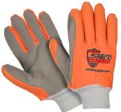 Large Sarco - Impact Glove - Orange/Gray Palm (6/Pkg.)