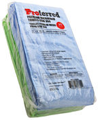"16"" X 16"" Blue / Green Variety Pack Premium Microfiber Towels Gsm 350"