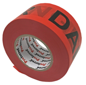 2.8In X 1000Ft, 0.035Mm (1.3Mil) Danger Tape Proferred Red / Black Danger Tape (16/Rolls)