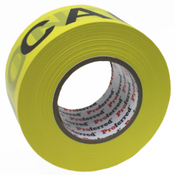 2.8In X 1000Ft, 0.035Mm (1.3Mil) Caution Tape Proferred Yellow / Black Caution Tape (16/Rolls)