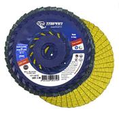 """4 1/2"""" x 5/8-11"""" Nut Arbor, 40/60 Grit Flap Disc Type-27 (10/Pkg)"""
