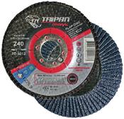 "4 1/2"" x 5/8-11"" Type-29, 60-Grit Zirconia Conical Flap Disc (10/Pkg)"