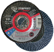 "4 1/2"" x 7/8"" Type-29, 60-Grit Zirconia Conical Flap Disc (10/Pkg)"