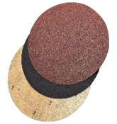 "Fast Grip Double-Sided Floor Sanding Discs - Silicon Carbide - 17"" x No Hole, Grit/ Weight: 80F, Mercer Abrasives 44817080 (20/Pkg.)"