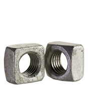 "3/8""-16 Square Nut, Grade 2, Hot Dip Galvanized (100/Pkg.)"
