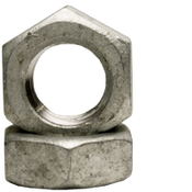 "1 1/8""-7 Hex Jam Nut, Coarse, Low Carbon Steel , Hot Dip Galvanized (10/Pkg.)"