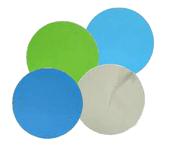 "Aluminum Oxide Micro Finishing Discs - PSA -  6"" x No Dust Holes, Micron Grade: 9u - Grit: 1200, Mercer Abrasives 526600 (50/Pkg.)"