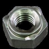 M8X1.25-6H Hex Weld Nut, Short Pilot, 3 Projections, Plain Steel (2000/Bulk Pkg.)