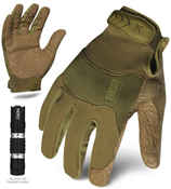 L - EXO Tactical Operator OD Green w/Flashlight | EXOT-GODG-04-L | IRONCLAD TACTICAL GLOVES (12/Pkg.)