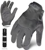 XXL - EXO Tactical Operator Grey w/Flashlight | EXOT-GGRY-06-XXL | IRONCLAD TACTICAL GLOVES (12/Pkg.)