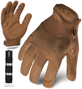 L - EXO Tactical Operator Coyote w/Flashlight | EXOT-GCOY-04-L | IRONCLAD TACTICAL GLOVES (12/Pkg.)