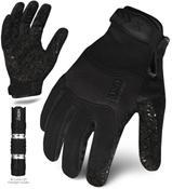 XL - EXO Tactical Grip Black w/Flashlight | EXOT-GBLK-05-XL | IRONCLAD TACTICAL GLOVES (12/Pkg.)