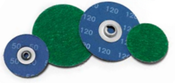 "2"" 100 Green Zirconia Twist-On Discs (100/Pkg.)"