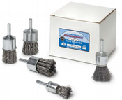 """1-1/8 x 1/4 Knot End Brush, .014"""" Stainless Steel Wire - Advantage (10/Pkg.)"""