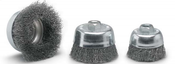 "2-3/4 x 5/8-11 Crimped Cup Brush, .012"" Stainless Steel Wire (1/Pkg.)"